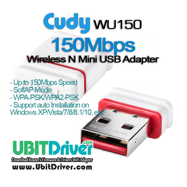 Cudy Driver WU150 Wireless N Mini USB Adapter