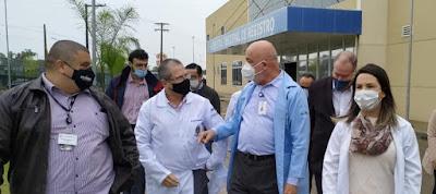 COVID 19: Secretário Estadual da Saúde realiza visita ao Vale do Ribeira