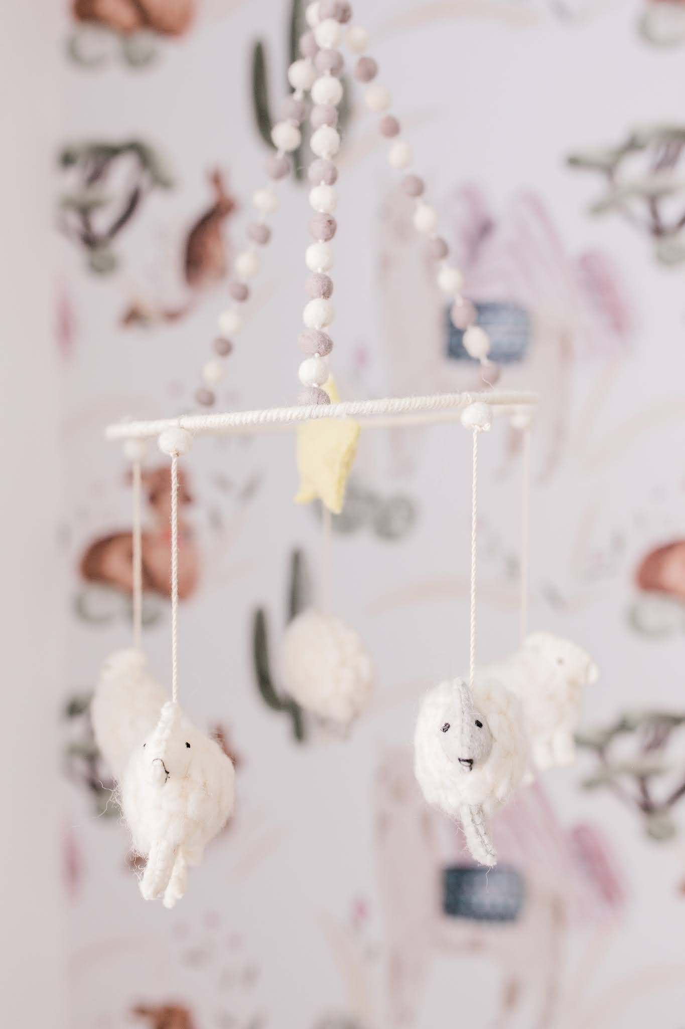 Pehr counting sheep mobile nursery styled