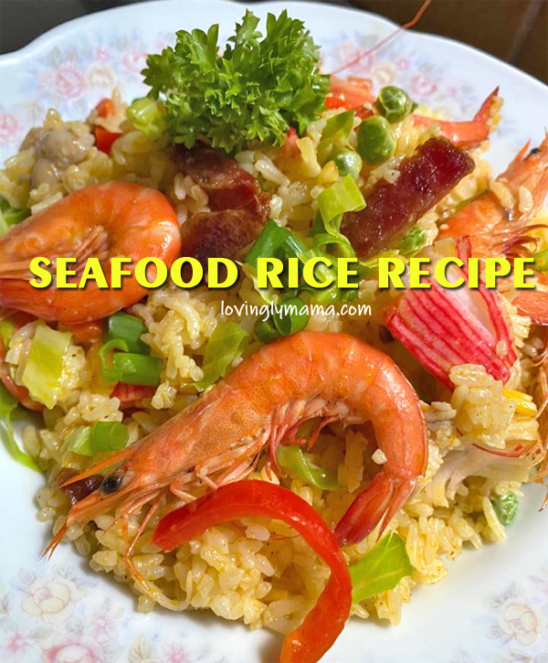 seafood rice, seafood rice recipe, fried rice, family gatherings, birthday party, Sunday lunch, weekend lunch, seafood recipe, fried rice variant, homecooking, from my kitchen, kitchen experiment, original recipe, husband, party, fiesta food, Philippines, Pinoy dish
