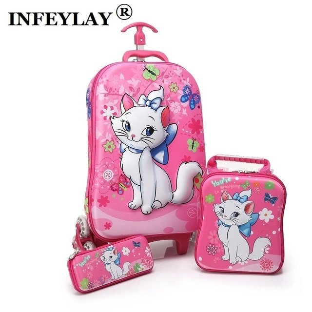 f2674bdab Best 3D stereo anime trolley case Cute kids EVA Travel 3PCS/set suitcase |  Aliexpress