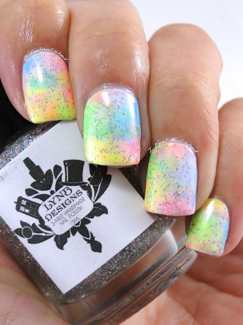 Neon Smush Nails