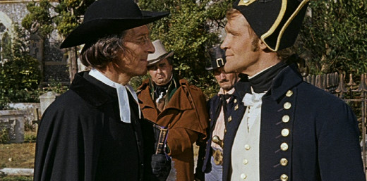 Peter Cushing as Dr. Blyss and Patrick Allen as Captain Collier, Night Creatures, 1962