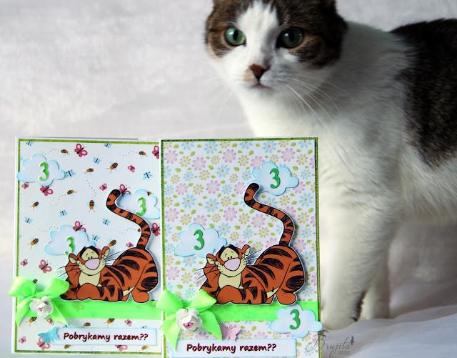 Kubuś Puchatek, Winnie the pooh, zaproszenia, urodziny, dla dziewczynki, dla dziecka, tygrysek, bohaterowie Kubusia Puchatka, pobrykać