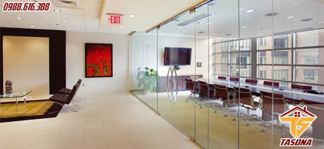 Vách ngăn kính cho không gian phòng họp