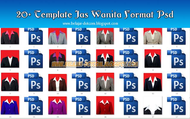 20+ Template Jas Wanita Untuk Pas Foto Format Psd Download Gratis