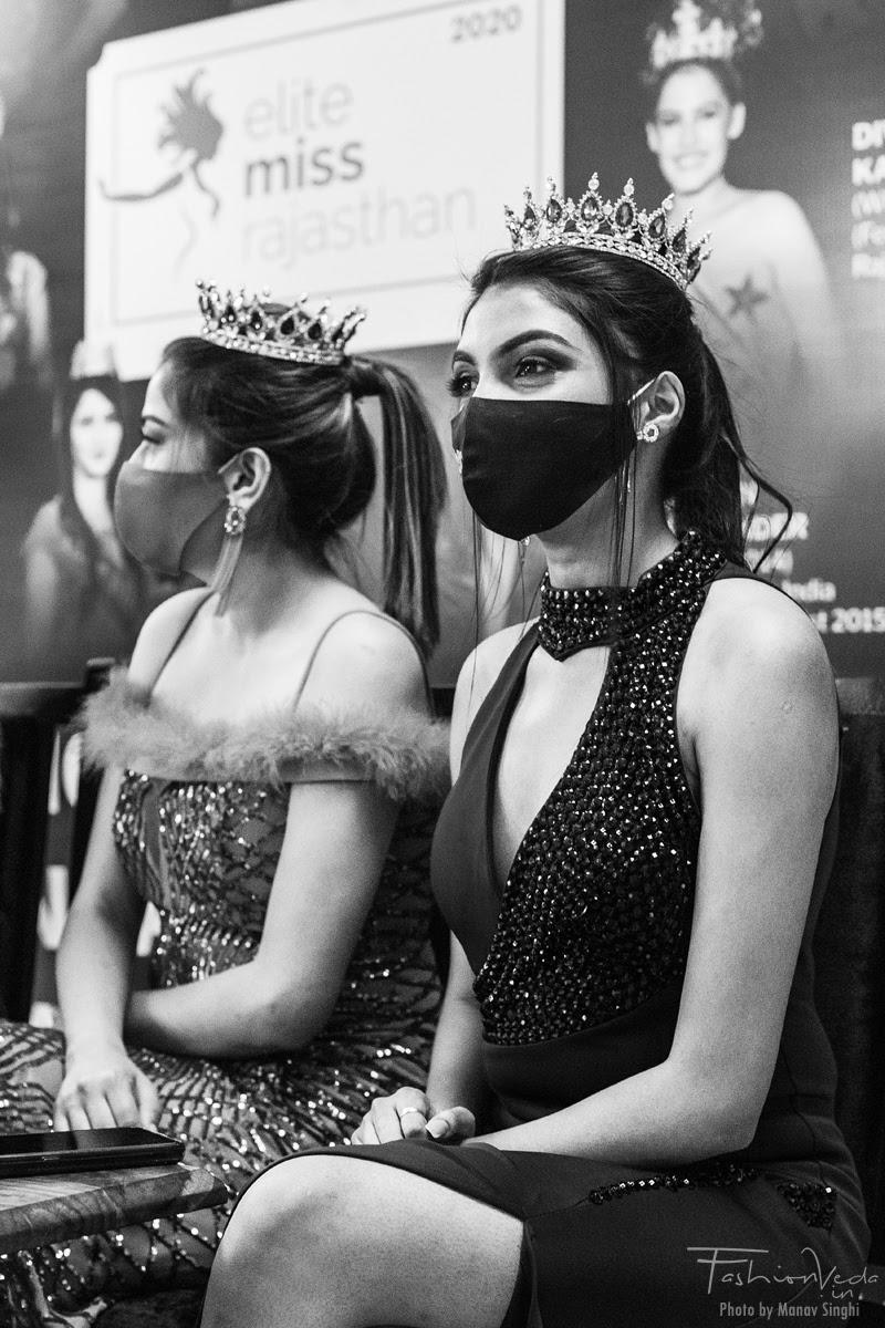 Nishi Kumari  and Anjali Sharma for Elite Miss Rajasthan, Jaipur.