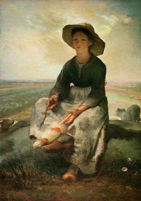 Жан Франсуа Милле - Молодая пастушка. 1873