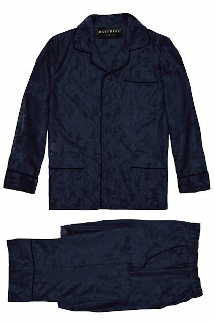 mens silk pajamas dark navy blue paisley pyjamas long sleeve buttoned pj set men classic elegance gentleman