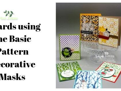6 Cards Using the Basic Pattern Decorative Masks