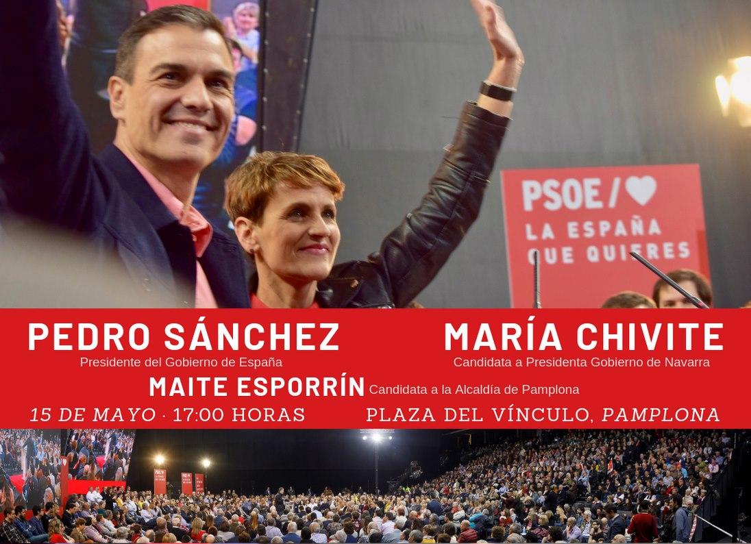 Mañana: Pedro Sánchez en Pamplona