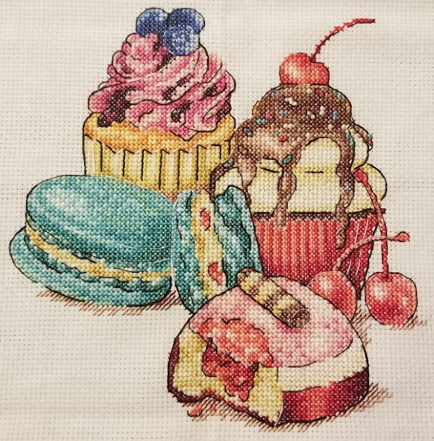Completed Dessert Cross Stitch
