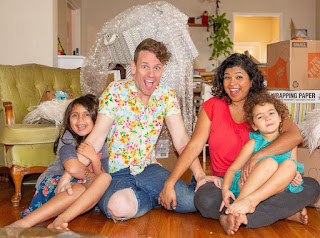 Aarti Sequeira with her husband Brendan McNamara and their daughters