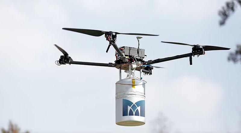 Квадрокоптер на водородном топливе от MetaVista