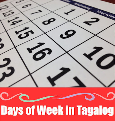 Days of the Week Word List in Tagalog