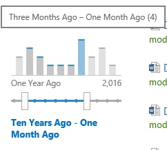 SharePoint Trenches: Build slider bar graph date time search