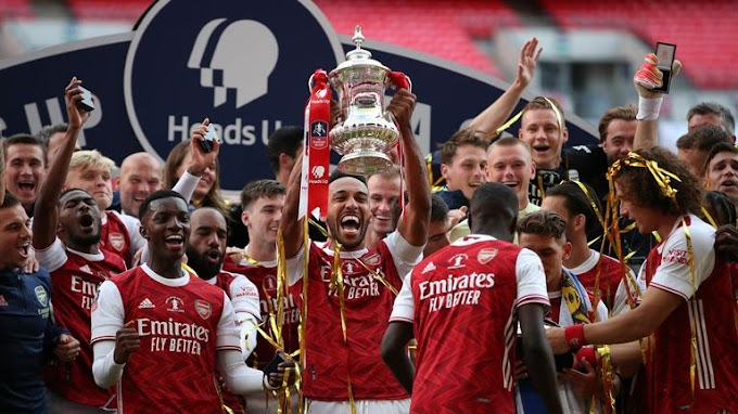 Aubameyang set new Record, First African player to captain a side in FA Cup final