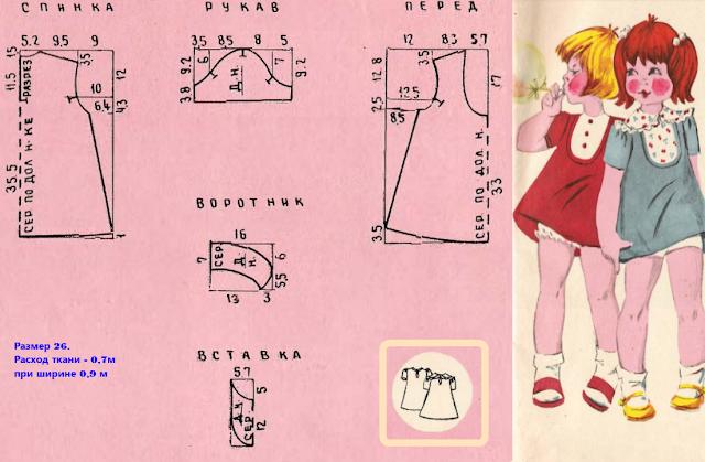 Выкройка детского платья из СССР