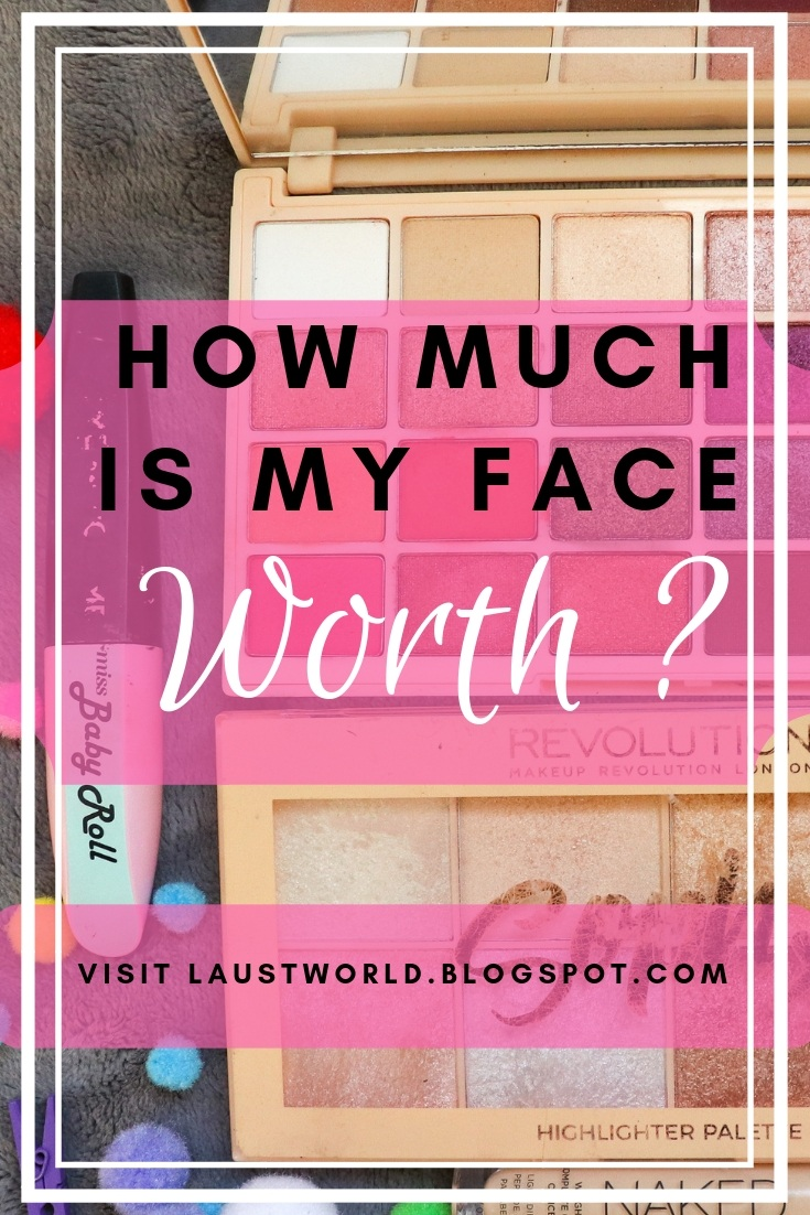 Pinterest image that says how much is my face worth