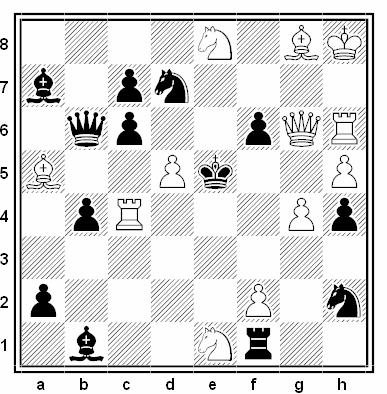 Problema de mate en 2 compuesto por Miguel Uris (4ª/6ª Mención, ChessStar 2018)