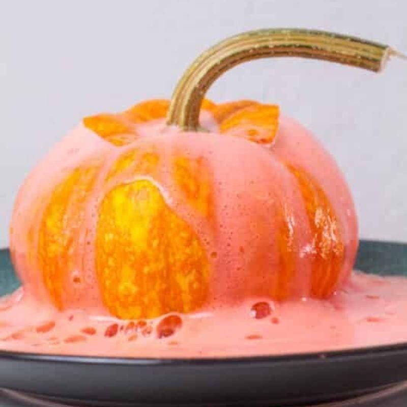 pumpkin volcano with baking soda and vinegar