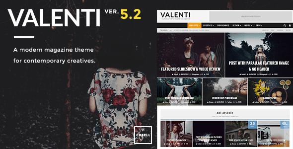 Valenti v3.2 – WordPress HD Review Magazine News Theme