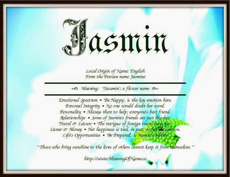 Jasmin Tag Meaning Of Name Jasmin