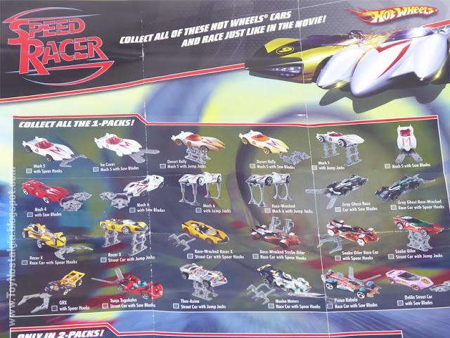 MACH 5 - METEORO - HotWheels folleto leaflet  (METEORO - SPEED RACER - MACH Go Go Go)