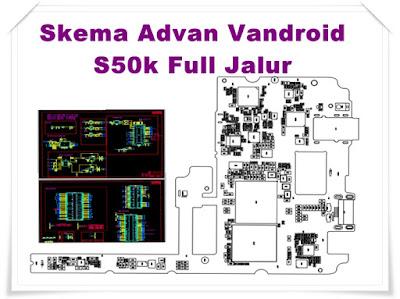 Skema Advan Vandroid S50k Full Jalur