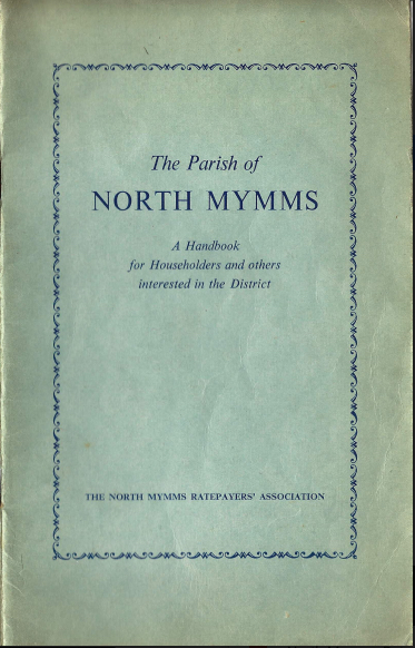 Scan of the cover for the North Mymms Ratepayers' Handbook