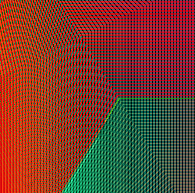 Color Grid No 1 Detail - Scalable vector art.
