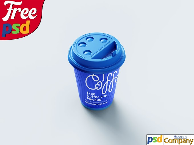 Download Free Paper Coffee Cup PSD Mockup #4