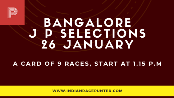 Bangalore Jackpot Selections 26 January, Jackpot Selections by indianracepunter,