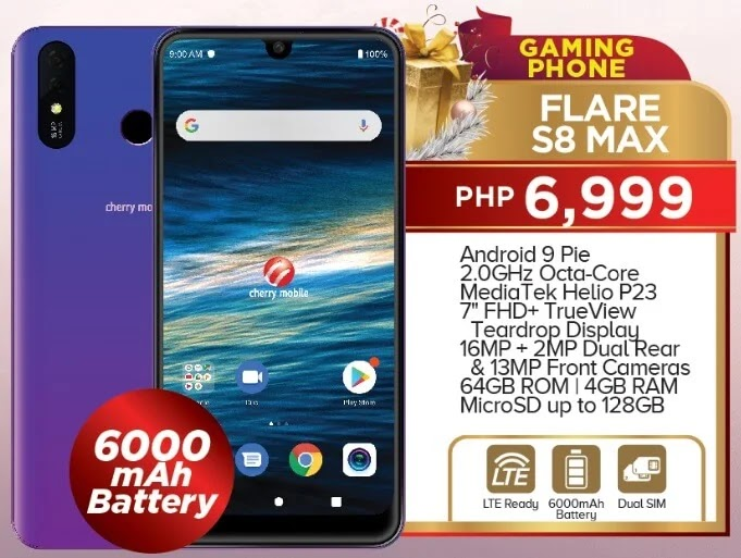 Cherry Mobile Flare S8 Max, Gaming Phone with 7-inch Display and 6000mAh Battery