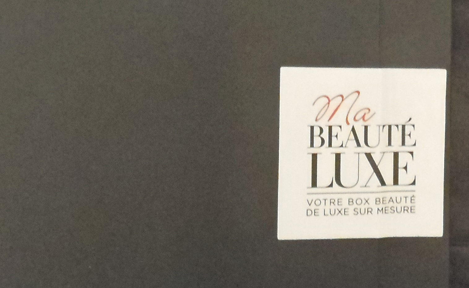 mademoiselle ho dic un nouveau concept de box avec ma beaut luxe. Black Bedroom Furniture Sets. Home Design Ideas