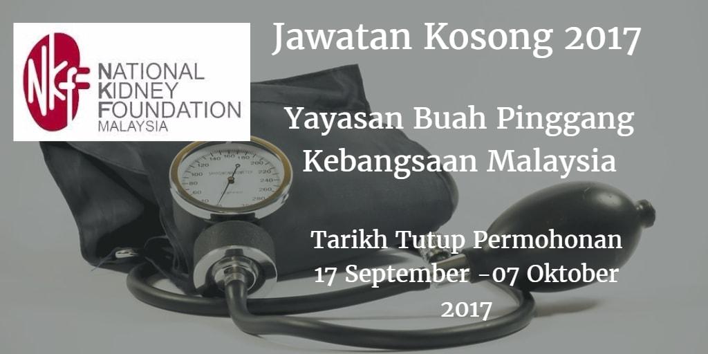 Jawatan Kosong NKF 17 September - 07 Oktober 2017