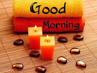 romantic candles image with good morning message for whatsapp