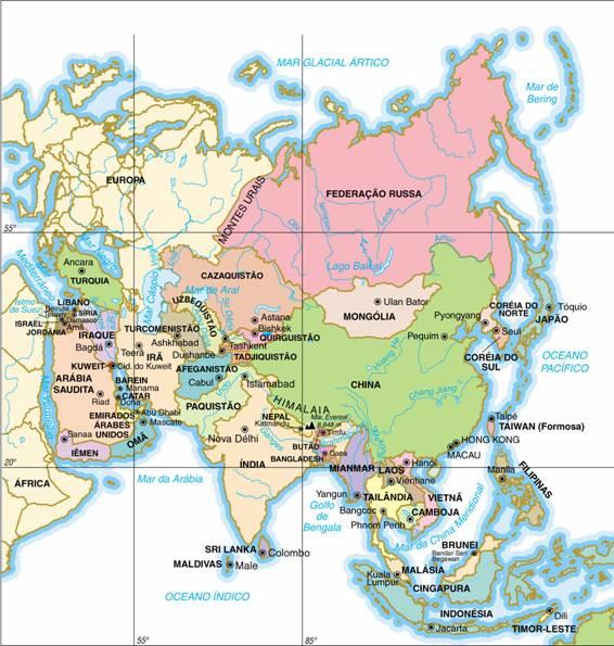 Ásia, Aspectos Geográficos da Ásia