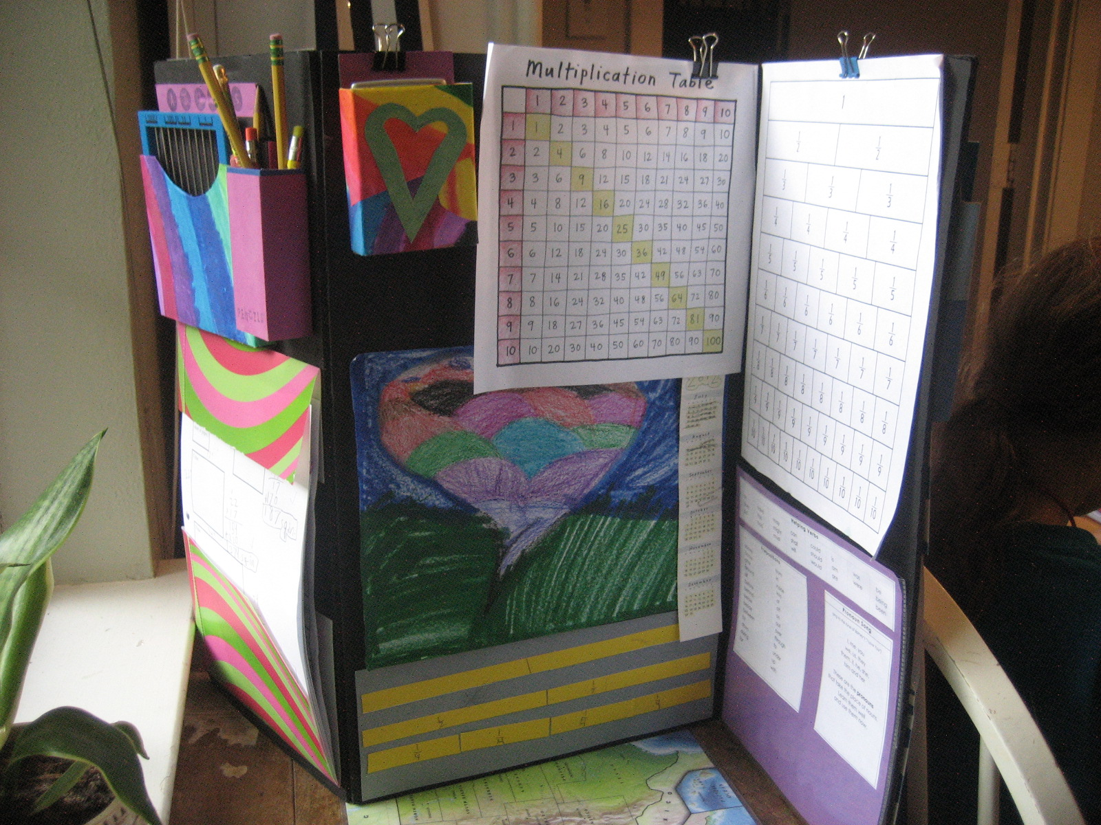 My Present Delight Schoolwork Table Divider