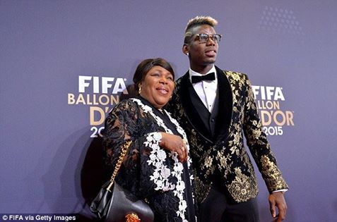 Paul Pogba and his mother Yeo