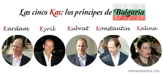 Kardam, Kyril, Kubrat, Konstantil y Kalina, los hijos de Simeón de Bulgaria