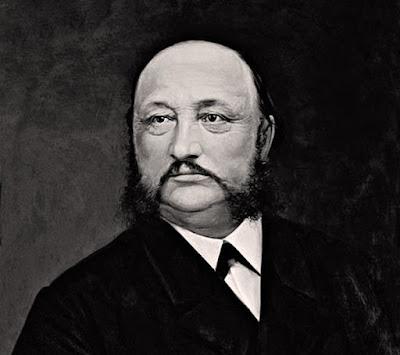 A portrait of Louis Brandt, founder of Omega