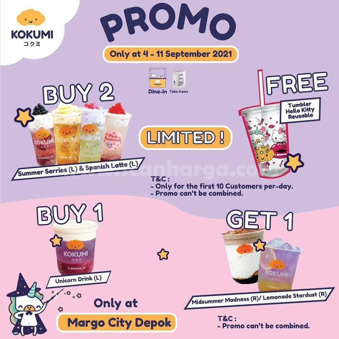 KOKUMI Margo City Depok Re-Opening Promo Beli 1 Gratis 1