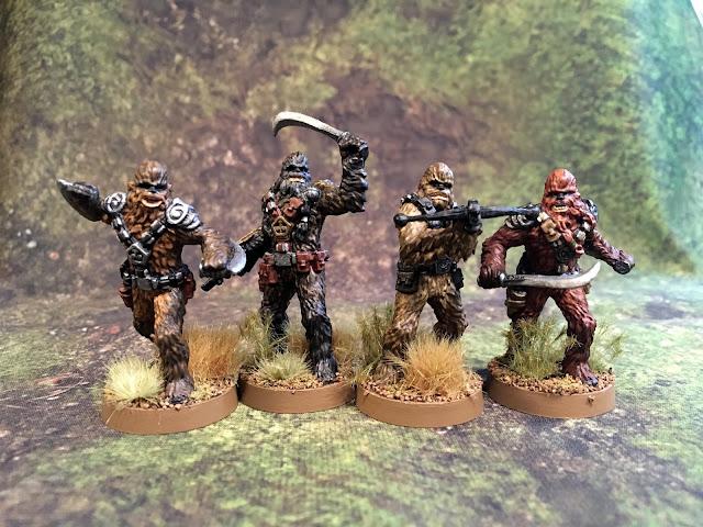 Star Wars Legion Wookie Miniatures