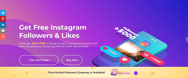 GetInsta - The best tool to get free Instagram followers & likes