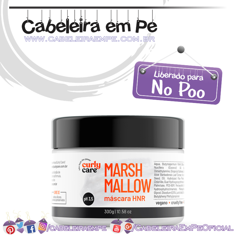 Máscara Marshmallow - Curly Care (No Poo)