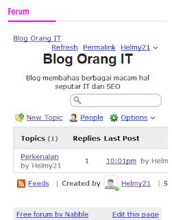Cara Memasang Forum diBlogger5