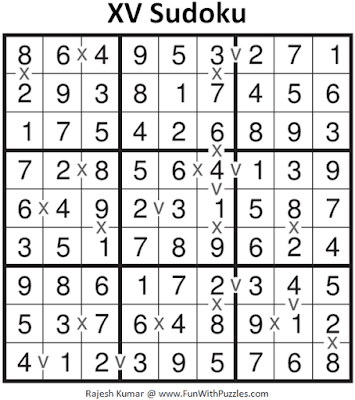 Answer of XV Sudoku Puzzle (Fun With Sudoku #303)