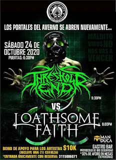 Concierto de Loathsome Faith y Threshold End en Bogotá