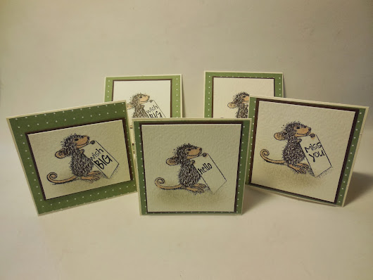 mouse house note cards!